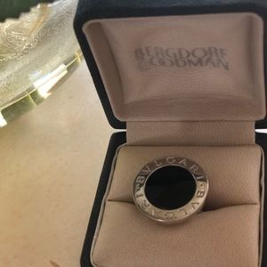 Bvlgari 18 kit white gold ring .